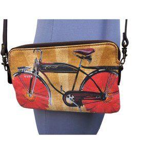 NEW Vida Bike Graphic Belt and Crossbody Purse